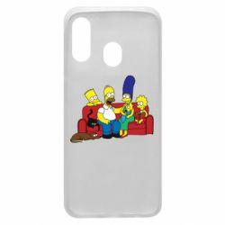 Чехол для Samsung A40 Simpsons At Home