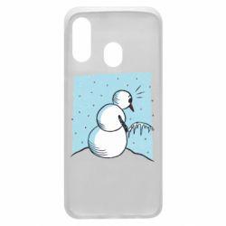 Чохол для Samsung A40 Snowman. It's Cold!