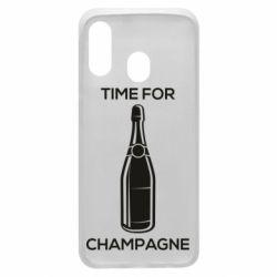 Чохол для Samsung A40 Time for champagne