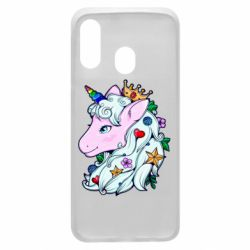 Чохол для Samsung A40 Unicorn Princess