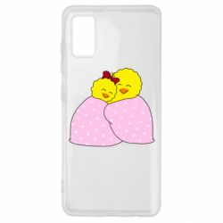 Чехол для Samsung A41 A pair of chickens and a blanket