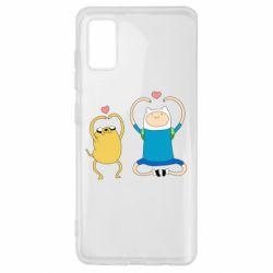 Чохол для Samsung A41 Adventure time