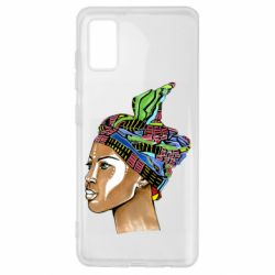 Чохол для Samsung A41 African girl in a color scarf