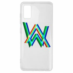 Чехол для Samsung A41 Alan Walker multicolored logo