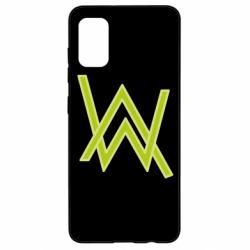 Чехол для Samsung A41 Alan Walker neon logo