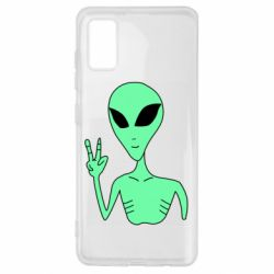 Чехол для Samsung A41 Alien and two fingers