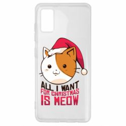 Чехол для Samsung A41 All i want for christmas is meow