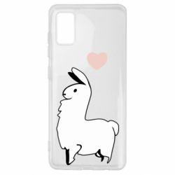 Чохол для Samsung A41 Alpaca with a heart