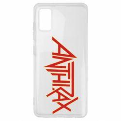 Чохол для Samsung A41 Anthrax red logo