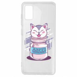 Чехол для Samsung A41 AntiDepressant Cat