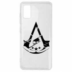 Чехол для Samsung A41 Assassin's Creed and skull 1