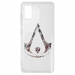 Чехол для Samsung A41 Assassins Creed and skull