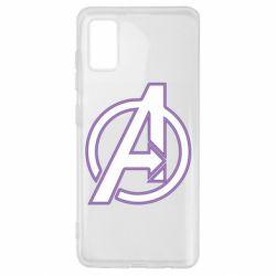 Чехол для Samsung A41 Avengers and simple logo