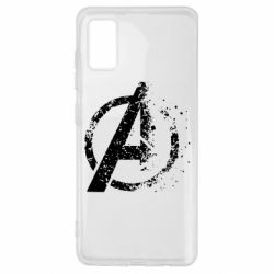 Чехол для Samsung A41 Avengers logotype destruction