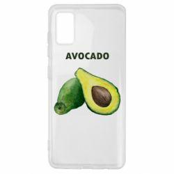 Чехол для Samsung A41 Avocado watercolor