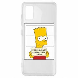 Чехол для Samsung A41 Барт в тюряге
