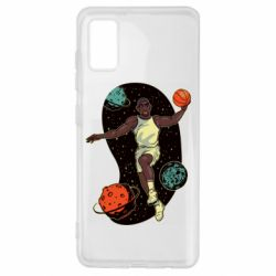 Чехол для Samsung A41 Basketball player and space