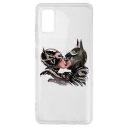 Чехол для Samsung A41 Batman and Catwoman Kiss