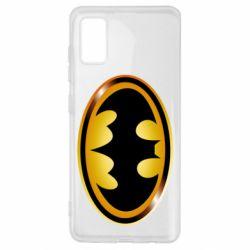 Чохол для Samsung A41 Batman logo Gold