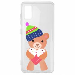 Чехол для Samsung A41 Bear and gingerbread