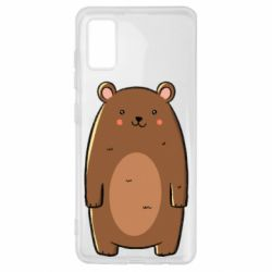 Чехол для Samsung A41 Bear with a smile