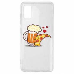 Чохол для Samsung A41 Beer and Pizza were kissed