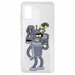 Чехол для Samsung A41 Bender and the heads of robots