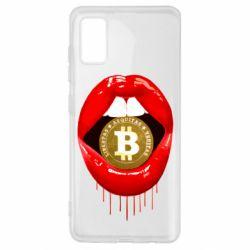 Чохол для Samsung A41 Bitcoin in the teeth