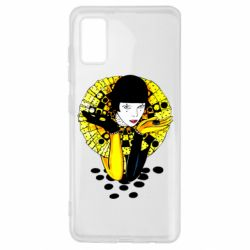 Чехол для Samsung A41 Black and yellow clown
