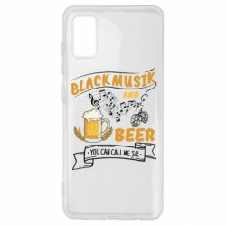 Чехол для Samsung A41 Black music and bear you can call me sir