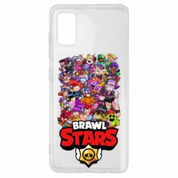 Чехол для Samsung A41 Brawl Stars all characters art