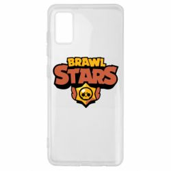 Чехол для Samsung A41 Brawl Stars logo orang and yellow