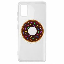 Чохол для Samsung A41 Brown donut on a background of patterns