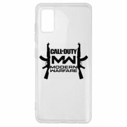 Чехол для Samsung A41 Call of debt MW logo and Kalashnikov