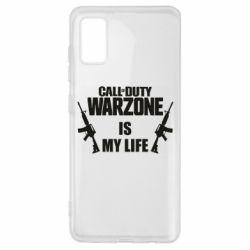 Чехол для Samsung A41 Call of duty warzone is my life M4A1