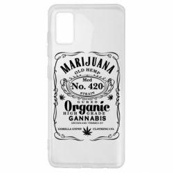 Чохол для Samsung A41 Cannabis label