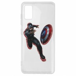 Чехол для Samsung A41 Captain america with red shadow