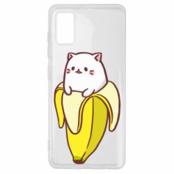 Чехол для Samsung A41 Cat and Banana