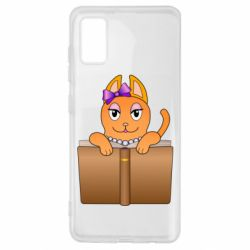 Чехол для Samsung A41 Cat girl and book