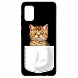 Чехол для Samsung A41 Cat in your pocket