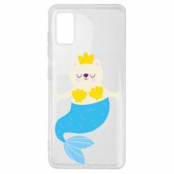 Чохол для Samsung A41 Cat-mermaid