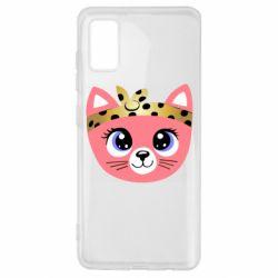 Чехол для Samsung A41 Cat pink