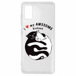 Чехол для Samsung A41 Cats and love