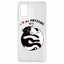 Чехол для Samsung A41 Cats with a smile