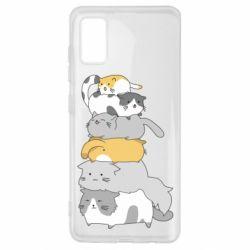 Чохол для Samsung A41 Cats