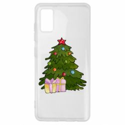 Чехол для Samsung A41 Christmas tree and gifts art
