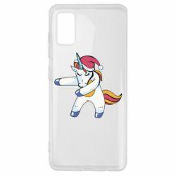 Чохол для Samsung A41 Christmas Unicorn