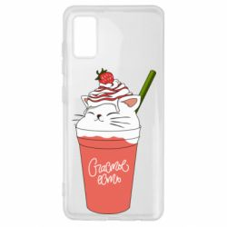 Чехол для Samsung A41 Cocktail cat and strawberry