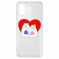 Чохол для Samsung A41 Couple Bears