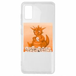 Чохол для Samsung A41 Cute dragon with skulls
